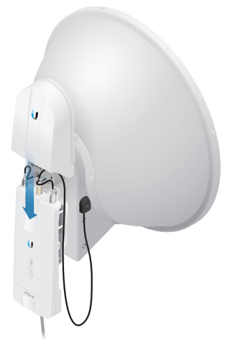 Rear View with airFiber X radio (airFiber X radio sold separately)