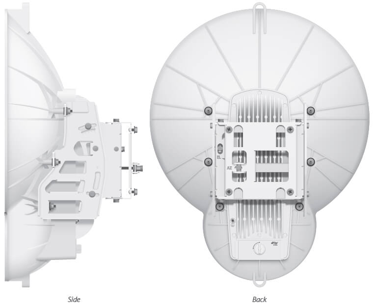 Ubiquiti airFiber 24HD Side and Back View