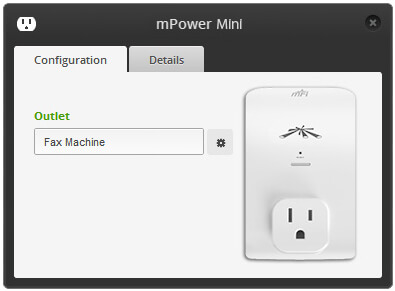 mPower Mini is managed and monitored from the mFi Controller software.